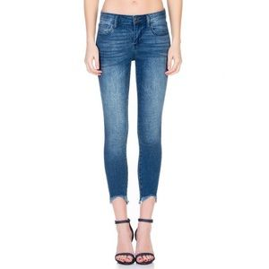 Cello cropped frayed hem classic skinny jeans